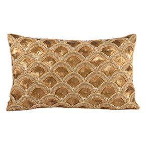 Pomeroy Gilded Scallops Oblong Throw Pillow