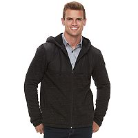 Men's Apt. 9® Mixed Media Sherpa-Lined Hooded Jacket