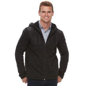 Men's Apt. 9® Mixed Media Sherpa-Lined Hooded Jacket