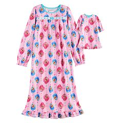 Girls 4-8 Shimmer & Shine Nightgown & Doll Gown