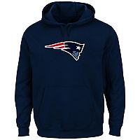 Big & Tall New England Patriots Pullover Fleece Hoodie