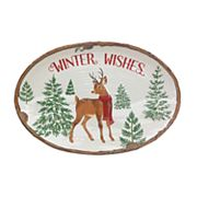 St. Nicholas Square® Lodge 'Winter Wishes' Oval Platter