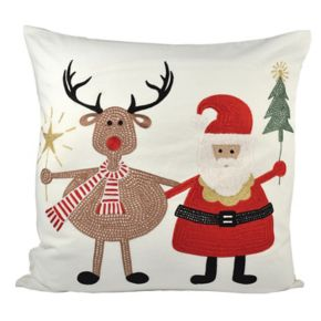 Pomeroy Santa and Friends Throw Pillow