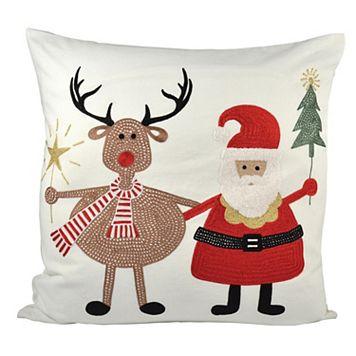 Pomeroy Santa and Friends Throw Pillow
