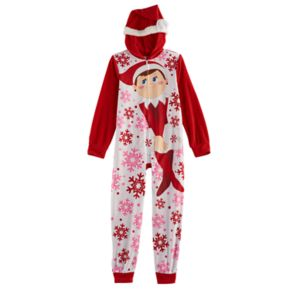 Girls 6-10The Elf on the Shelf® Santa Hat One-Piece Pajamas