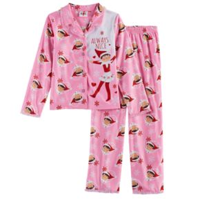 "Girls 4-10 Elf on the Shelf ® ""Always Nice"" Top & Bottoms Pajama Set"