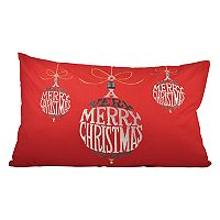 Pomeroy ''Very Merry Christmas'' Oblong Throw Pillow