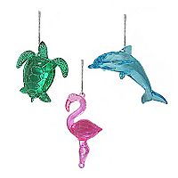 St. Nicholas Square® Coastal Christmas Ornaments 3-piece Set