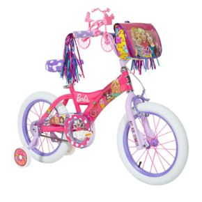 Girls Barbie 16-Inch Bike with Training Wheels