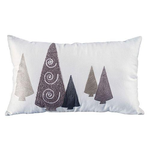 Pomeroy Modern Trees Oblong Throw Pillow