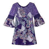 Girls 7-16 IZ Amy Byer Chiffon Printed Bell Sleeve Dress