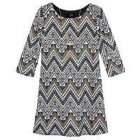 Girls 7-16 IZ Amy Byer 3/4-Sleeve Textured Knit Dress with Necklace