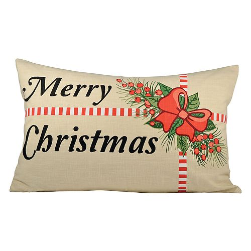 Pomeroy Holiday Package Oblong Throw Pillow