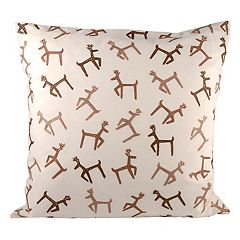 Pomeroy Dancing Reindeer Throw Pillow
