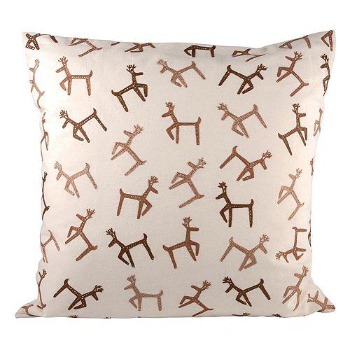 Pomeroy Dancing Reindeer Throw Pillow