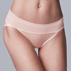 Simply Vera Vera Wang Modern Lace Bikini Panty