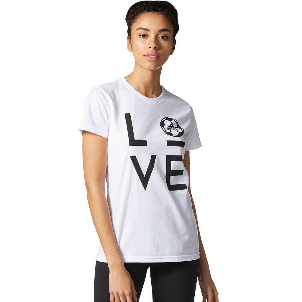 Women's adidas Soccer Short Sleeve Graphic Tee