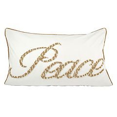 Pomeroy ''Peace'' Oblong Throw Pillow