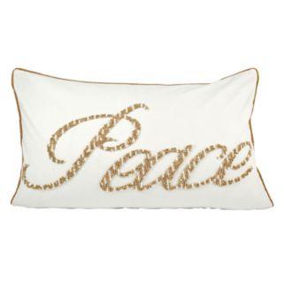 Pomeroy ''Peace'' Oblong Throw Pillow