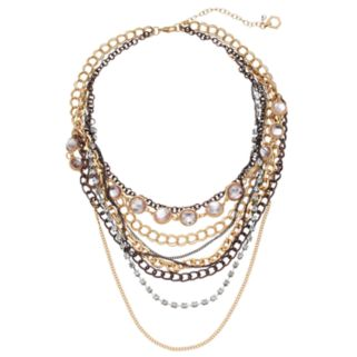 Simply Vera Vera Wang Tri Tone Multi Strand Necklace