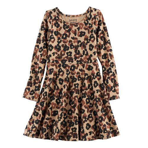 Jumping Beans® Baby Girl Glitter Fairisle Skater Dress
