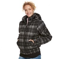 Juniors' Urban Republic Hooded Plaid Bomber Jacket