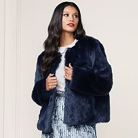 LC Lauren Conrad Runway Collection Faux-Fur Jacket - Women's