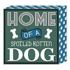 Belle Maison 'Dog' Box Sign Wall Art