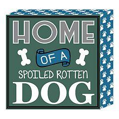 Belle Maison 'Dog' Box Sign Wall Art