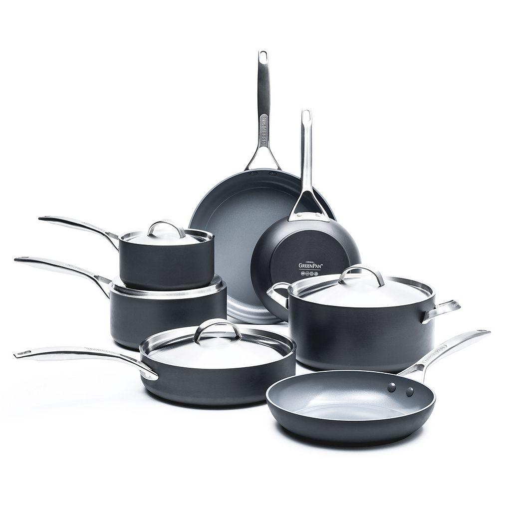 GreenPan Paris Pro 11-pc. Ceramic Nonstick Cookware Set