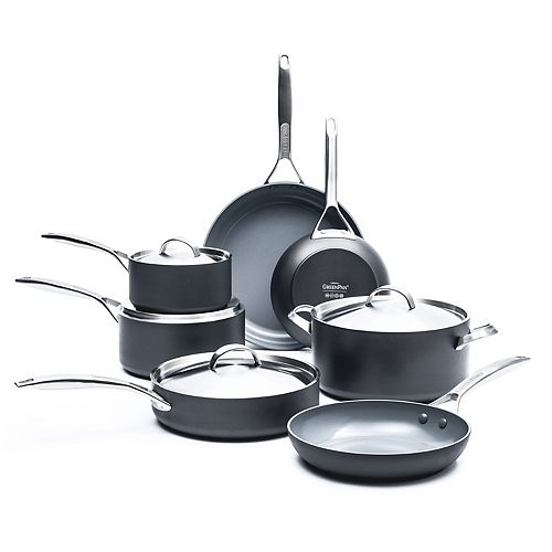 GreenPan Paris Pro 11-pc. Ceramic Nonstick Cookware Set