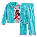 Disney's Elena of Avalor Girls 4-8 Mesh Lined Top & Bottoms Pajama Set
