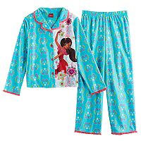 Disney's Elena of Avalor Girls 4-8 Mesh Lined Top & Bottoms Pajama Set