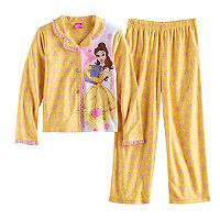 Disney's Belle Girls 4-10 Rose Bud Top & Bottoms Pajama Set