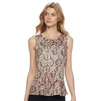 Women's Dana Buchman Pleated Peplum Top