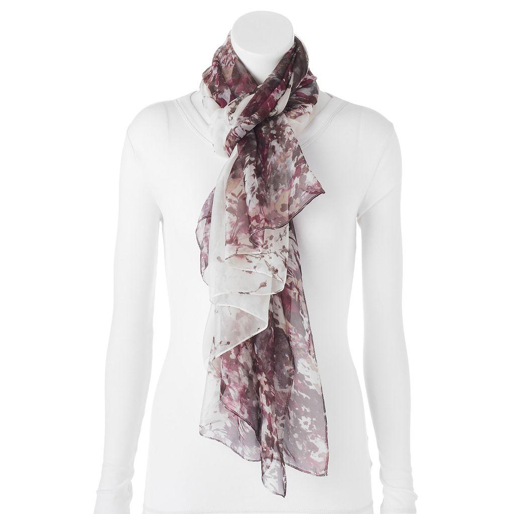 Apt. 9® Cherry Blossom Chiffon Oversized Wrap Scarf