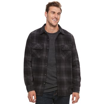 Croft & Barrow Mens Fleece Shirt Jacket