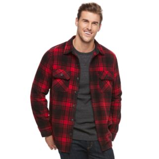 Big & Tall Croft & Barrow® Arctic Fleece Shirt Jacket