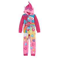 DreamWorks Trolls Poppy Girls 4-12 3D Ears One-Piece Pajamas