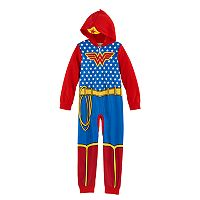 Girls 4-10 DC Comics Wonder Woman One-Piece Pajamas