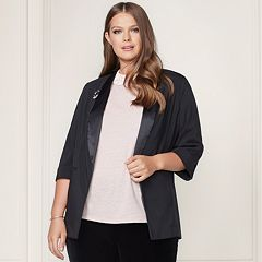 LC Lauren Conrad Runway Collection Satin Trim Blazer - Plus Size