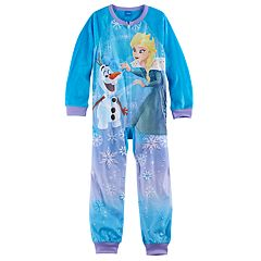 Disney's Frozen Elsa & Olaf Girls 4-10 Fleece One-Piece Pajamas