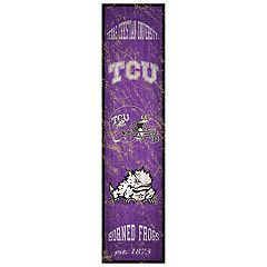 TCU Horned Frogs Heritage Banner Wall Art
