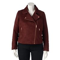 LC Lauren Conrad Runway Collection Moto Jacket - Plus Size