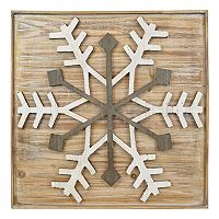 Belle Maison Wood Snowflake Wall Decor