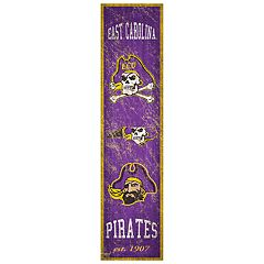 East Carolina Pirates Heritage Banner Wall Art