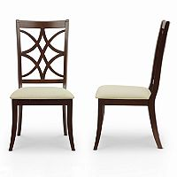 Baxton Studio Glenview Dining Chair 2-piece Set