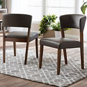 Baxton Studio Montreal Mid-Century Dining Chair 2 pc Set