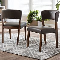 Baxton Studio Montreal Mid-Century Dining Chair 2 pc Set
