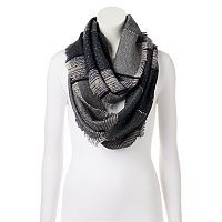LC Lauren Conrad Space-Dyed Slubbed Striped Infinity Scarf